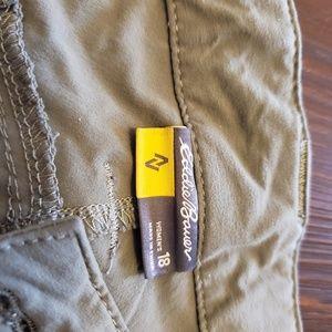 2 pairs eddie bauer crop pants